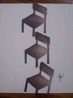 *椅子はんこ**