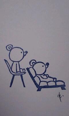 *お座りくまさん その2&3**