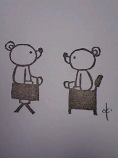 *椅子乗りくまさんはんこ**