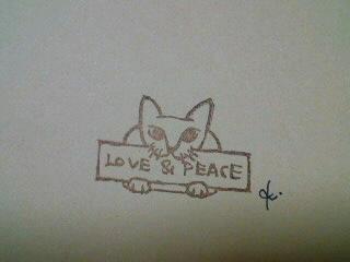 *猫が伝える*
